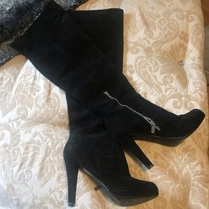 Over the Knee Michael Kors Suede Heel Boots